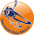 Logo with the text, Sea Kayak Baja Mexico: .