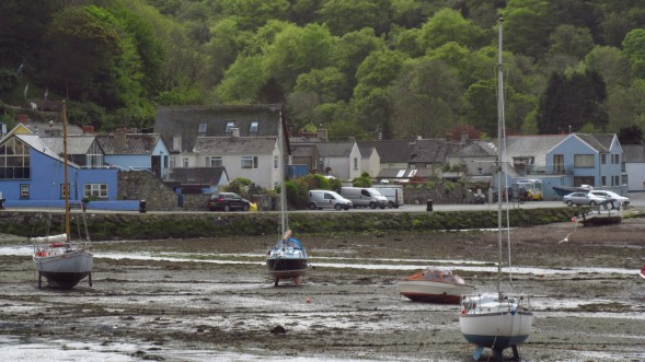 Solva harbor at low tide