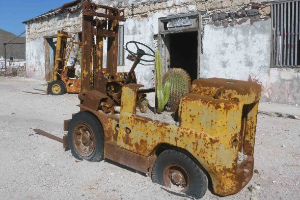 Forklift on Carmen Island