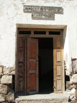 Door to Doctor's Office on Carmen Island