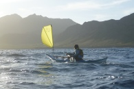 Flat Earth Kayak Sails available