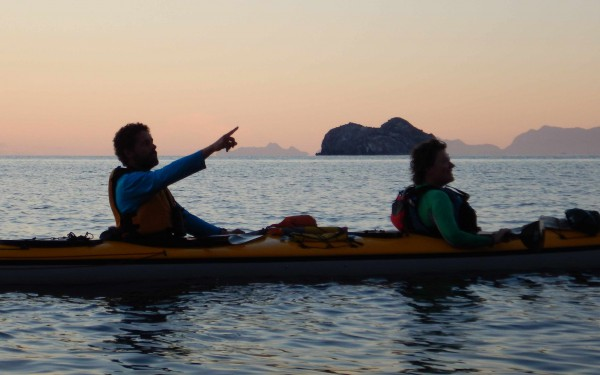 Sunrise paddle near Danzante Island